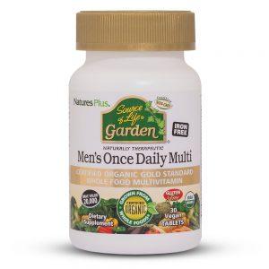 MEN's DAILY Garden – Органични Мултивитамини за мъже от Natures.