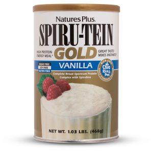 SPIRU-TEIN GOLD Протеинов шейк (Ванилия) растителен от Natures