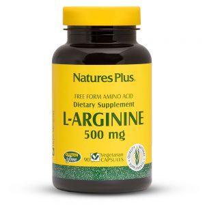 L-АРГИНИН – 500mg с Аминокиселини за Сърдечно-съдова система, Kръвно налягане и Артерии от Natures