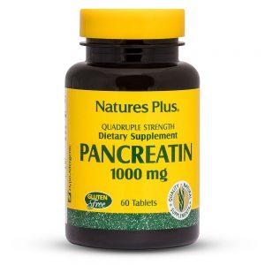 ПАНКРЕАТИН – 1000mg за добро Храносмилане и Стомах от Natures.