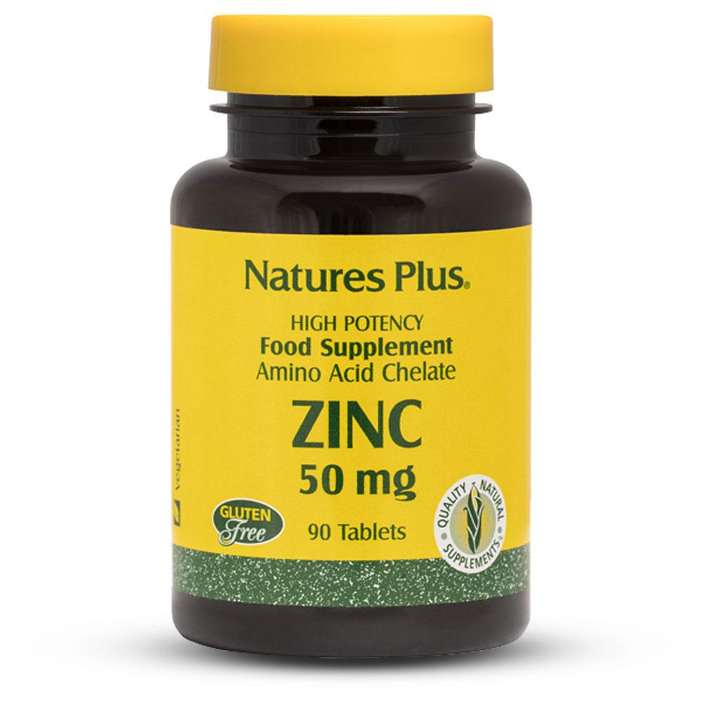 ЦИНК / ZINC - NaturesPlus (90 табл)