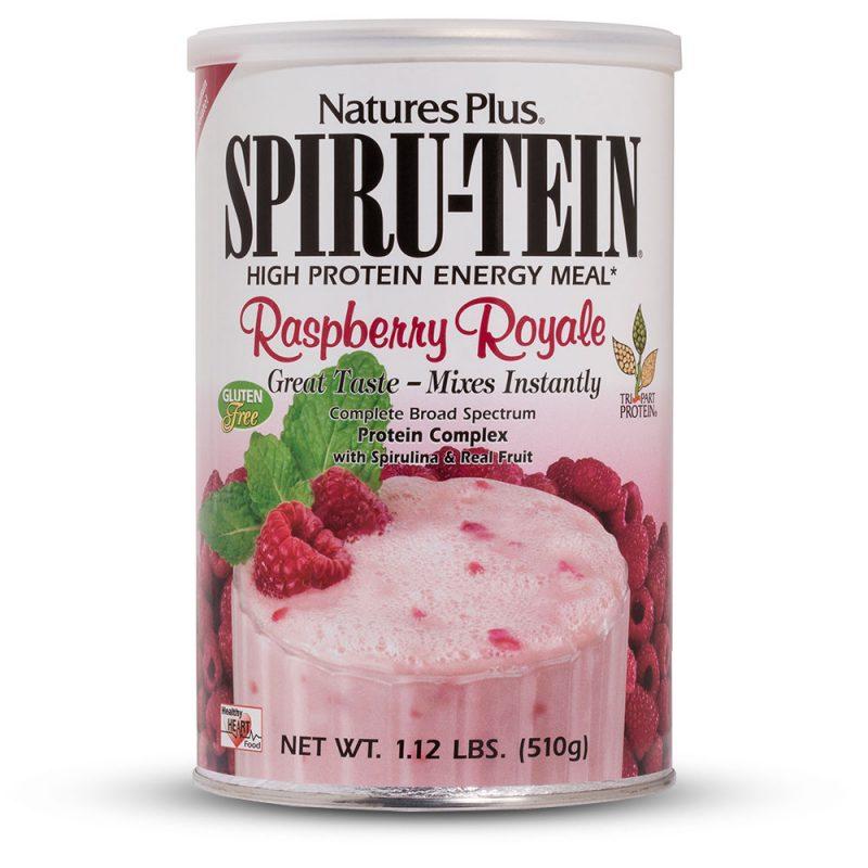 SPIRU-TEIN Протеинов шейк (Малина) вегетариански от Natures