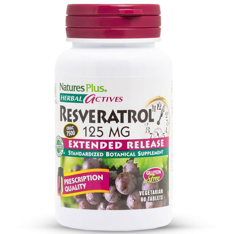 Herbal Actives РЕСВЕРАТРОЛ Комплекс за Силен Имунитет, Сърдечно-съдовата система, Кръвното налягане и Артериите от Natures