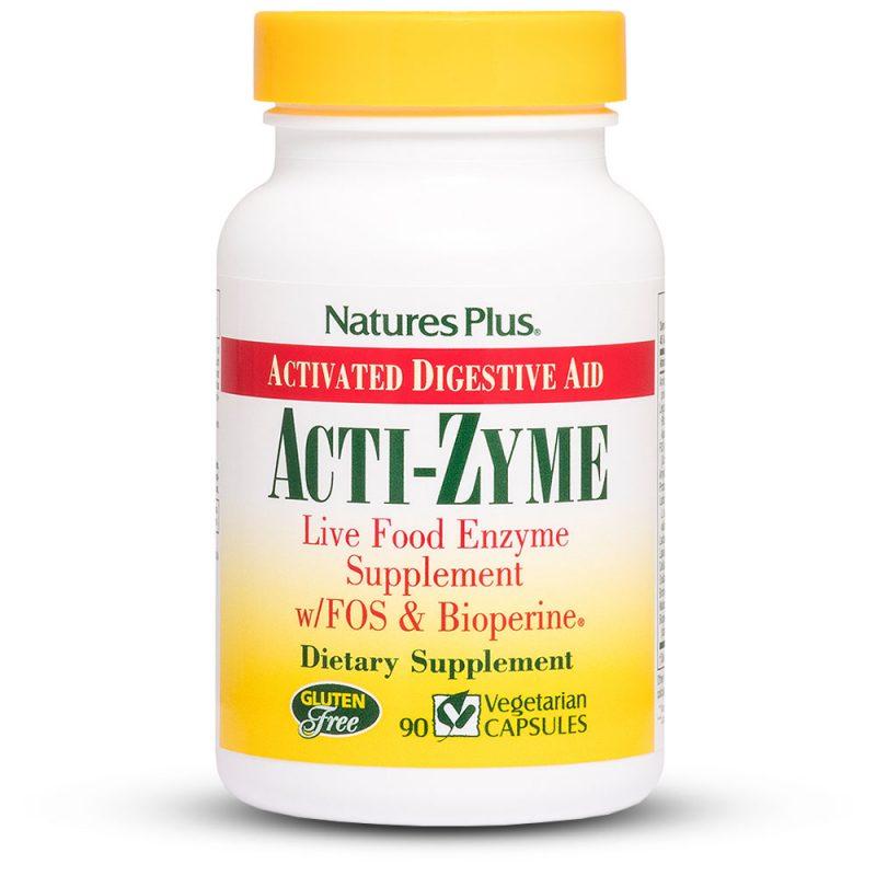 ACTI-ZYME – Храносмилателни ензими за добро храносмилане и стомах от Natures