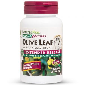 Herbal Actives МАСЛИНОВ ЛИСТ – 500mg за Диабет, Силен Имунитет, Кръвно налягане и Артерии от Natures