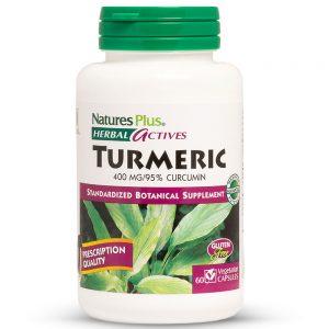 Herbal Actives КУРКУМА – 400mg за Силен Имунитет, Против възпаления и Болки от Natures