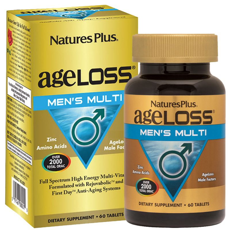 AgeLoss Men's Multi – МУЛТИВИТАМИНИ за Мъжете в зряла възраст за Сила, Енергия и Силен Имунитет от Natures