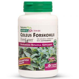 Herbal Actives КОЛЕУС ФОРСКОЛИЙ – 125mg за Отслабване, Детокс, Дихателна функция и Бронхи от Natures
