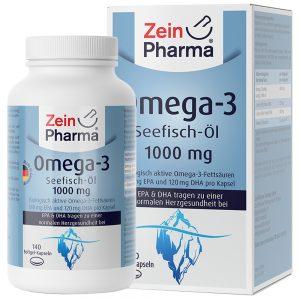 ZeinPharma ОМЕГА-3 Рибено масло – 1000mg за Нервна система, Кръвно налягане и артерии от Pharma
