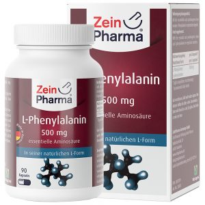 ZeinPharma L-ФЕНИЛАЛАНИН – 500mg Аминокиселини за Отслабване, детокс, Умствен тонус и памет от Pharma