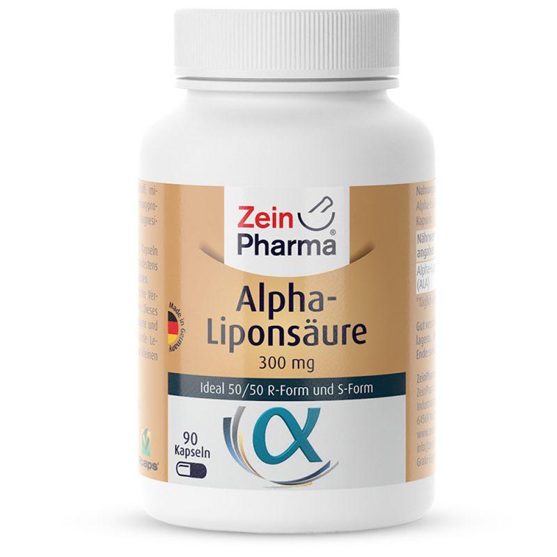 ZeinPharma АЛФА-ЛИПОЕВА КИСЕЛИНА – 300mg за Отслабване, детокс, Сила, енергия и Коса-кожа-нокти от Pharma