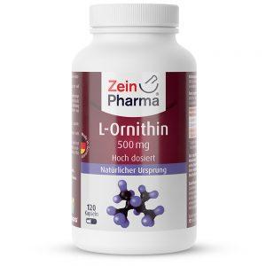 ZeinPharma L-ОРНИТИН – 500mg Аминокиселини за Сила и енергия, Черен дроб и жлъчка от Pharma