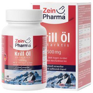ZeinPharma Масло от КРИЛ - Рибено масло и омега за нервна система, сърдечно-съдова система, умствен тонус и памет от Pharma.