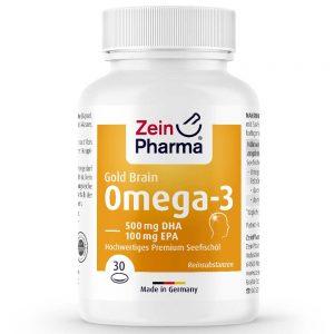 ZeinPharma OMEGA-3 Gold BRAINс Рибено масло и Омега за Умствен тонус, памет, Кръвно налягане и артерии от Pharma