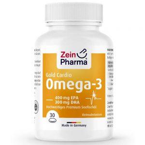 ZeinPharma OMEGA-3 Gold CARDIO с Рибено масло и Омега за Сърдечно-съдовата система, Кръвно налягане и артериите от Pharma