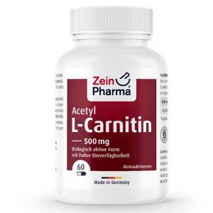 ZeinPharma Ацетил L-КАРНИТИН – 500mg Аминокиселини за Отслабване и детокс от Pharma