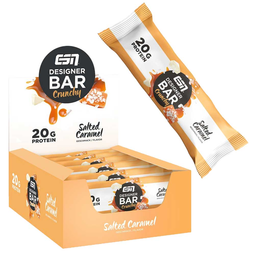 Протеиново Барче / Protein Bar - ESN (Солен Карамел, 60 гр) - 6 БР
