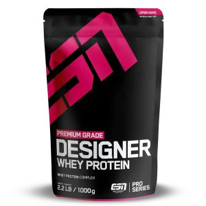 Протеин DESIGNER Whey Protein ESN - Протеини с вкус на Ванилия, Шоколад, Ягода, Банан, Малина, Бисквитки, Шоколад с Мента, Шоколад с Кокос, Ледено Лате, Лайм Чийзкейк и Чери Йогурт от ESN